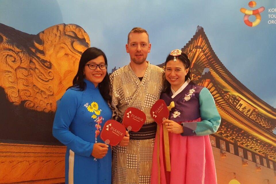 Unsere DIAMIR-Dreifaltigkeit: Vietnam, Japan, Südkorea ;-)