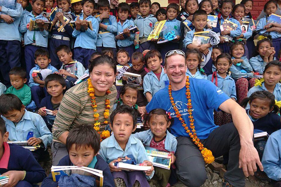Markus Walter und Pema Doma Sherpa in Nepal unterwegs