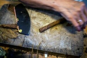 Tabakdreherin auf Kuba