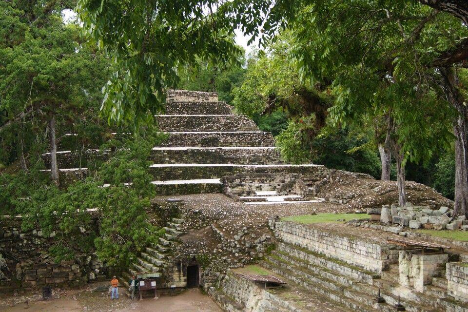 Berühmte Ruinen von Copan