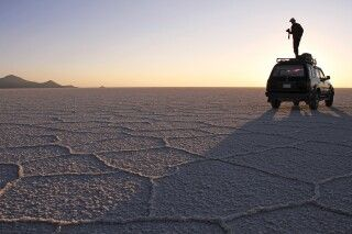 Per Mietwagen am Salar de Uyuni