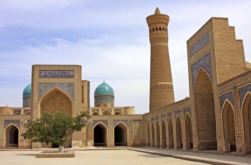 Buchara Kalan Komplex mit Minarett und Moschee