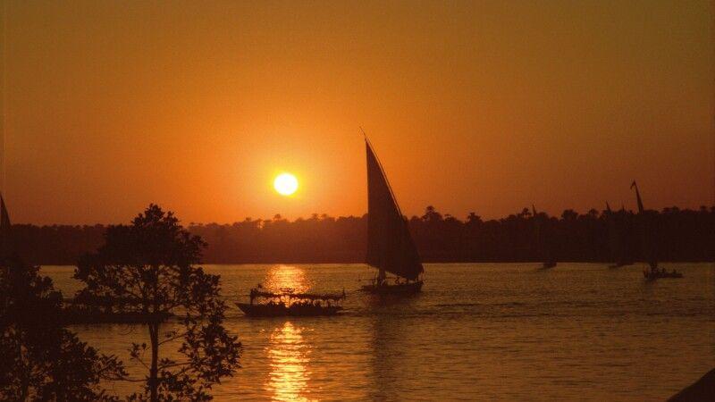 Sonnenuntergang in Assuan © Diamir