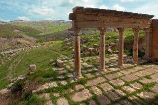 Die römischen Ruinen von Djemila, Algerien