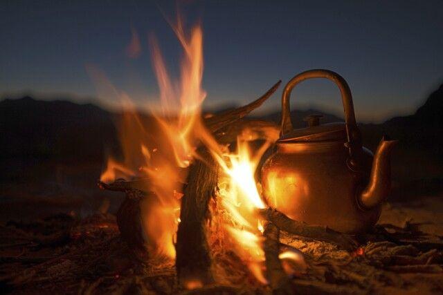 Teekessel in der Wüste