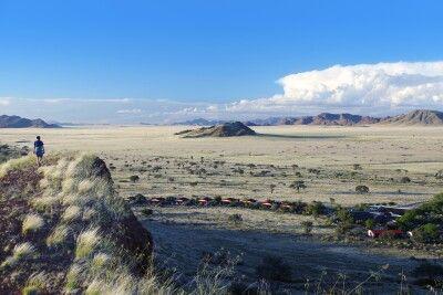 Blick auf die Namib Desert Lodge