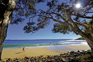 Australien QLD Queensland Sunshine Coast Noosa Tea Tree Bay Strand Meer Landschaft