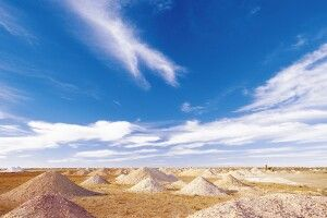 Landschaft in Coober Pedy Opalstadt Opale Südaustralien Opalfeld