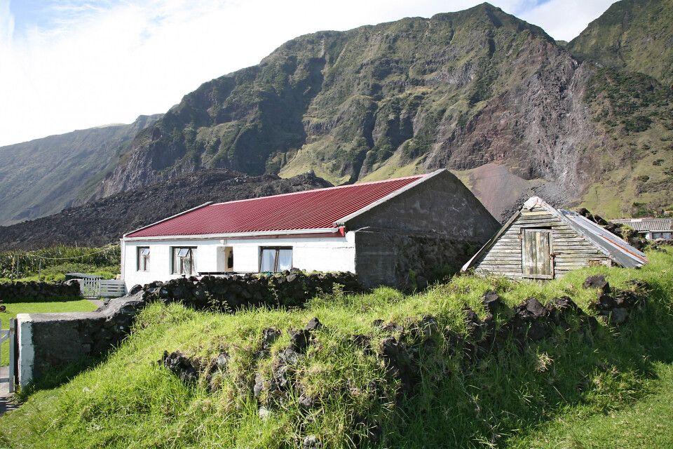Kleines Gehöft auf Tristan da Cunha