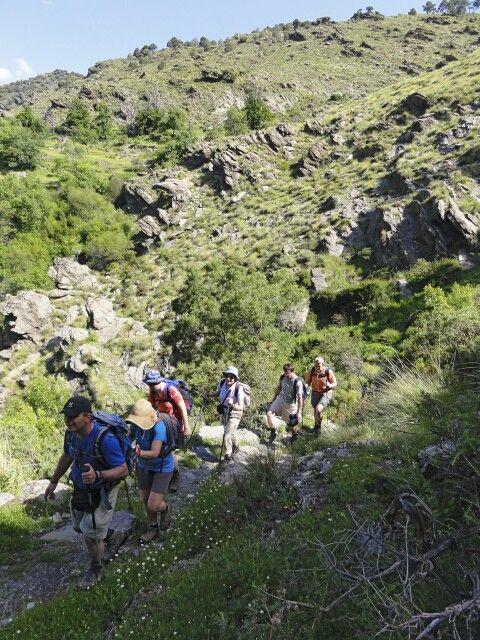 Gruppenwanderung im Alpujarrasgebirge