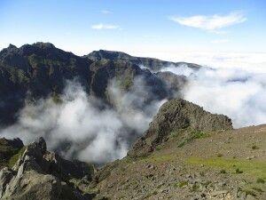 Wolken an der madeirensischen Hauptkette