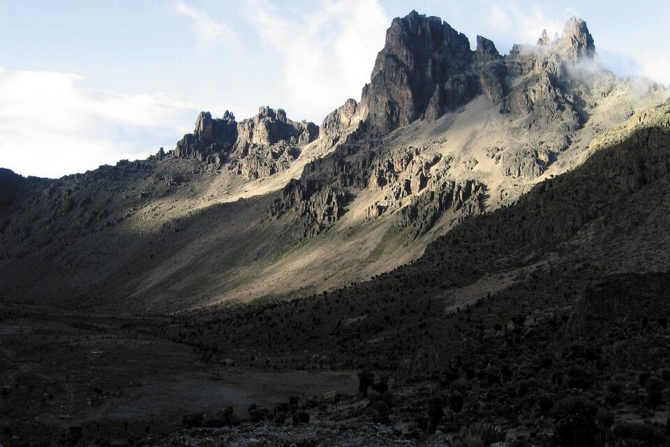 Imposante Berglandschaft am Mount Kenya
