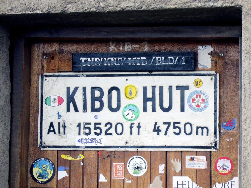 Kibo-Hütte, die letzte vor dem Gipfel