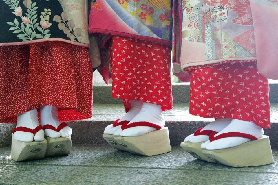 Schuhe einer Geisha