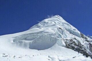 Die formschöne Pyramide des Parcharmo Peak.