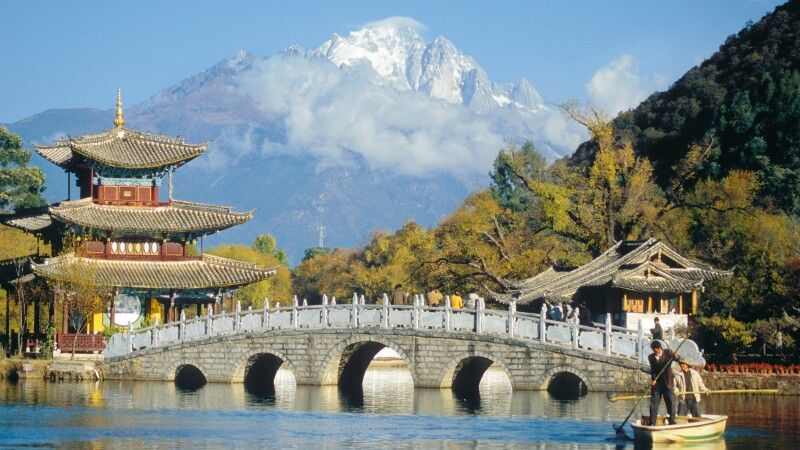 Teich des schwarzen Drachens in Lijiang © Diamir