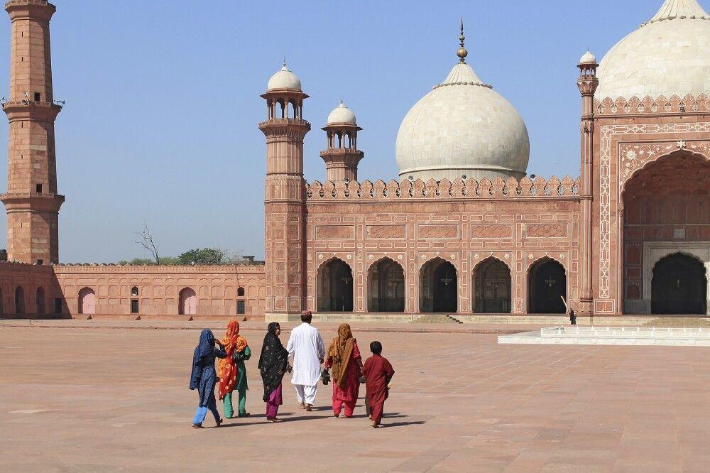 Die Badshahi Moschee in Lahore.
