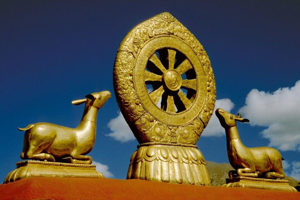 Dharma-Rad auf dem Jokhang-Tempel in Lhasa