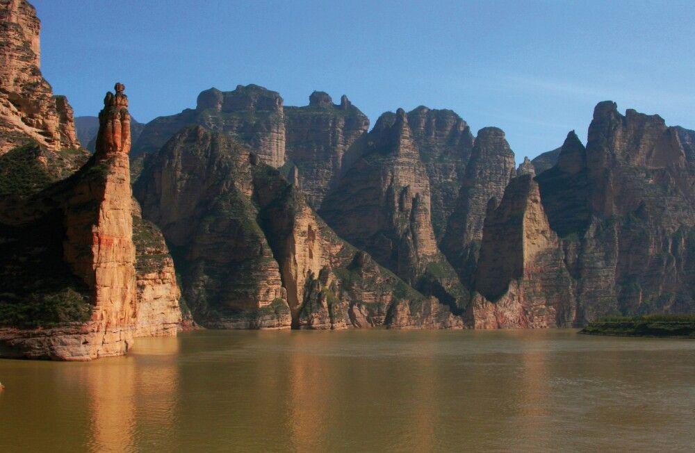Huang He, der Gelbe Fluss bei Lanzhou