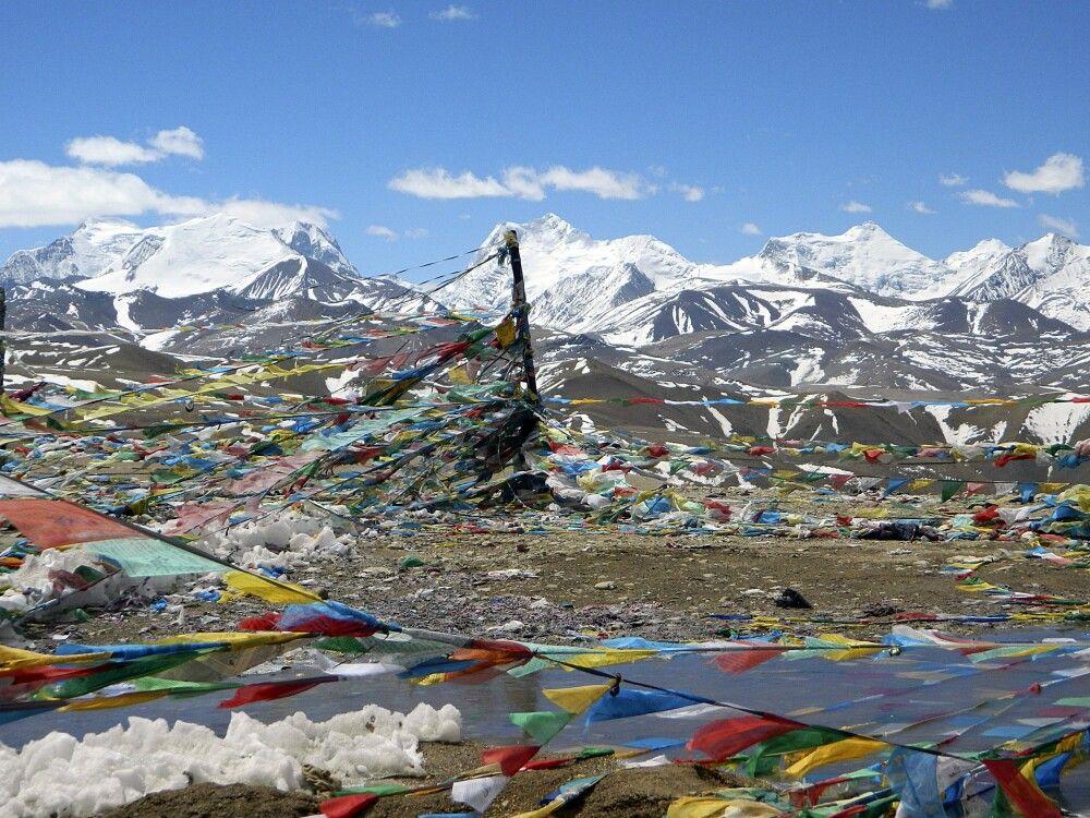Blick vom Lalung-La-Pass (5050 m)