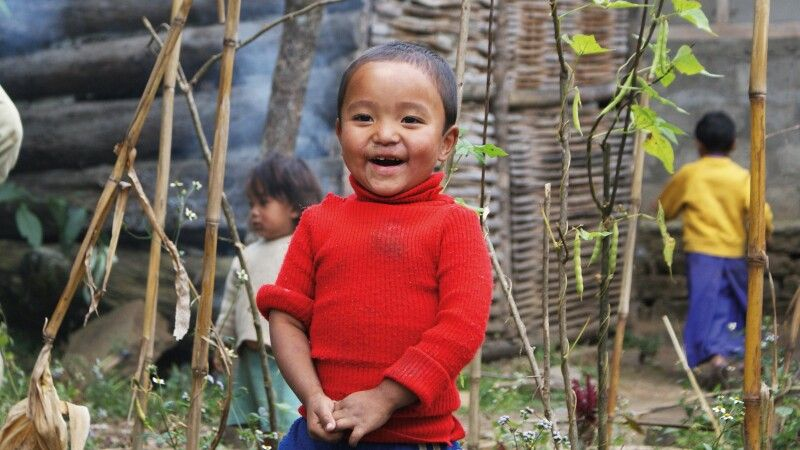 Kinderlachen in Sikkim © Diamir