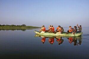 Katamaranfahrt bei Polonnaruwa