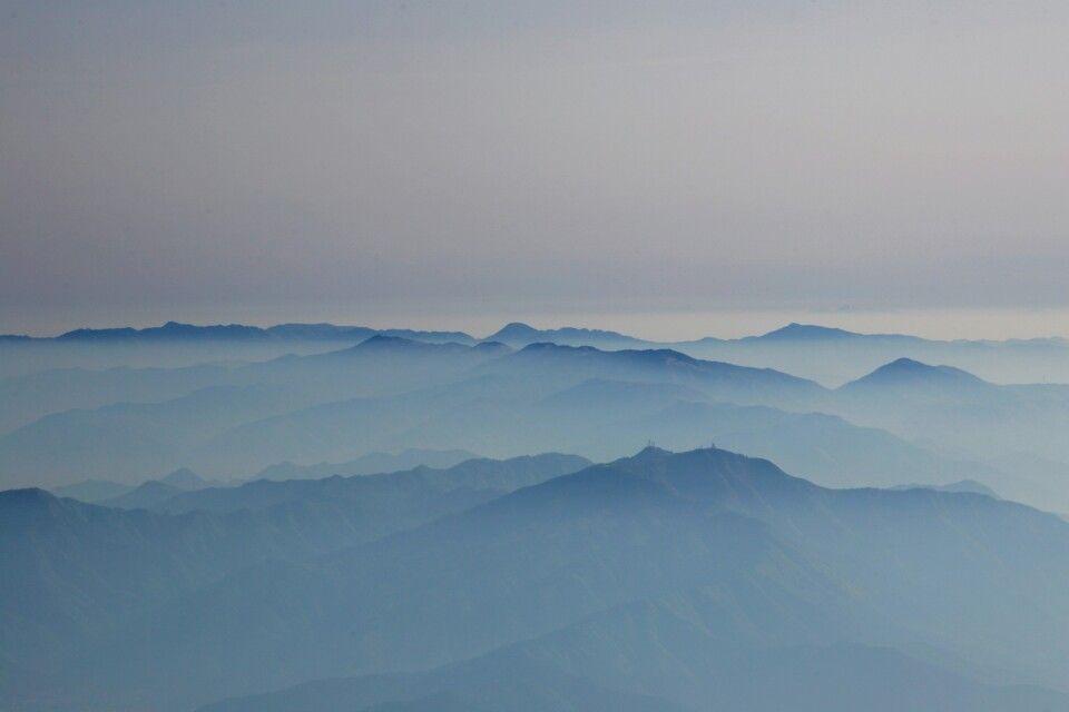 Blick vom Mt. Fuji auf die japanischen Alpen