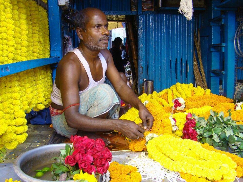 Blumenmarkt in Kalkutta