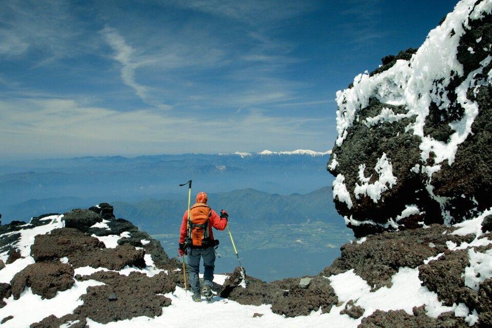Blick vom Gipfel des Fuji-san