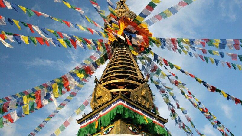 Affentempel Swayambhunath in Kathmandu © Diamir