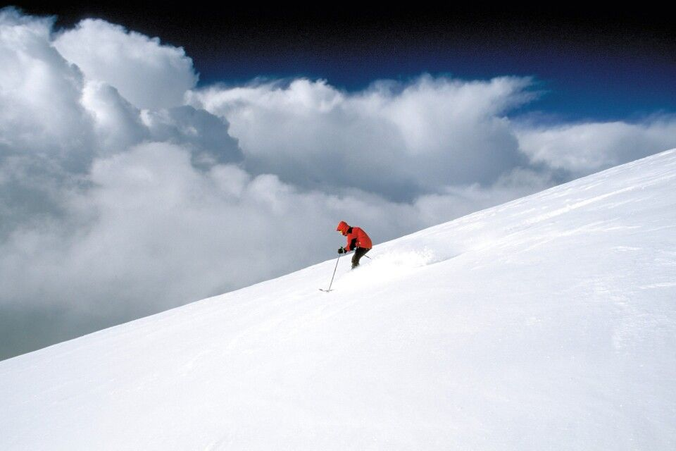 Skiabfahrt vom Muztagh Ata