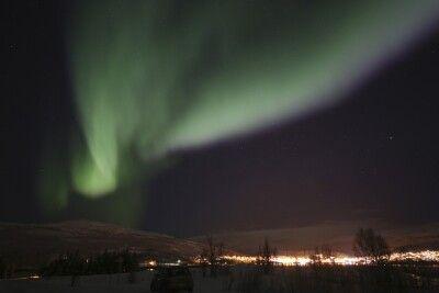 Nordlichter über dem Norden Norwegens