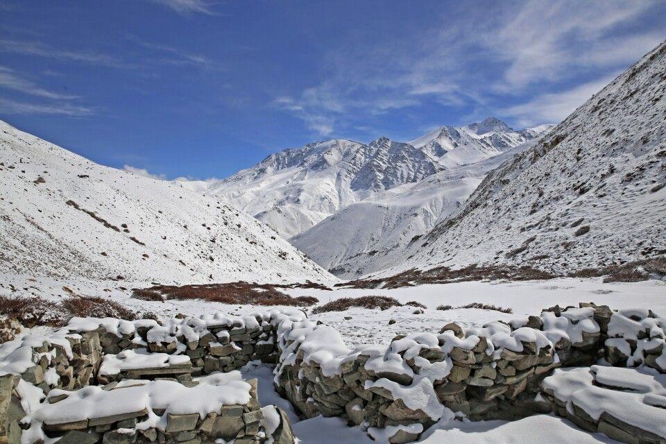 Winterlandschaft in Ladakh