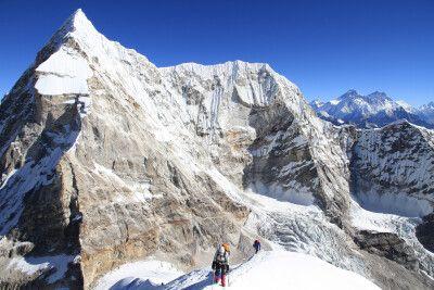 Aufstieg am Pacharmo Peak