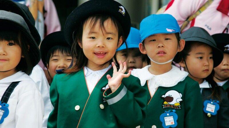 Kindergartengruppe in Nara © Diamir