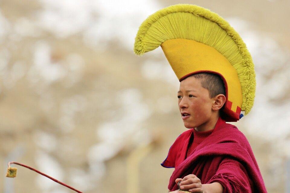 Gelukpa Mönch in Ladakh