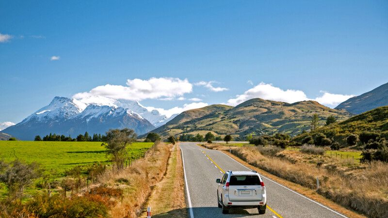 Queenstown Glenorchy Self Drive Southern Alps Straße 42*28 © Diamir