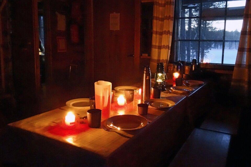 Abendessen auf der Hütte