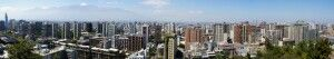 Blick vom Cerro Santa Lucia in Santiago de Chile
