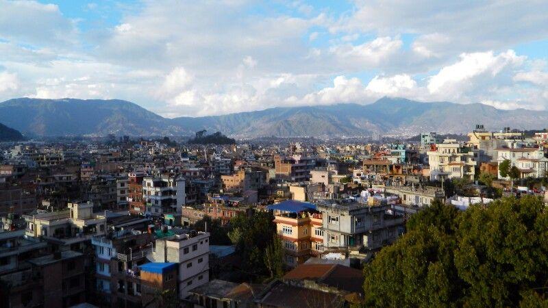 Blick von der Dachterrasse vom Kathmandu View Hotel © Diamir