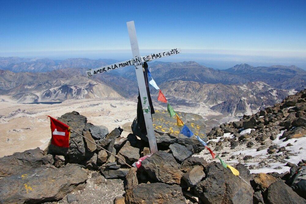Gipfelkreuz auf dem Descabezado Grande