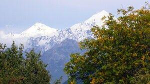 Berg Tetnuldi in Swanetien im Hauptkamm des zentralen Kaukasus