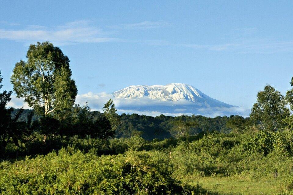 Arusha NP mit Kilimanjaro im Hintergrund