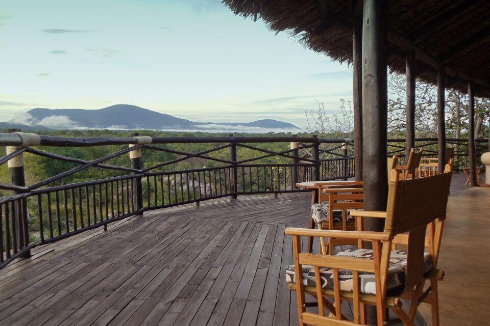 Ruaha River Lodge Terrasse