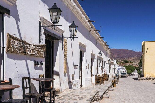 Dorf Cachi im gleichnamigen Tal Cachi Valley, Calchaqui Valleys, Salta Province, North Argentina