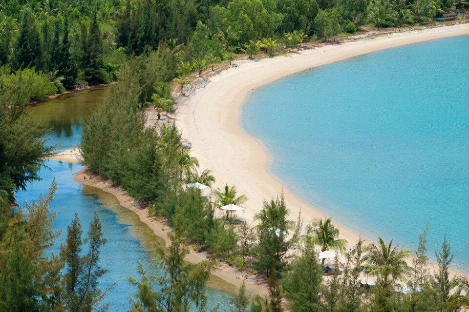 An Lam Ninh Van Bay Resort, Blick auf den Strand