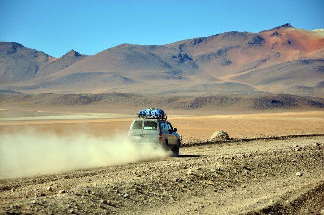 Fahrt durch das Altiplano