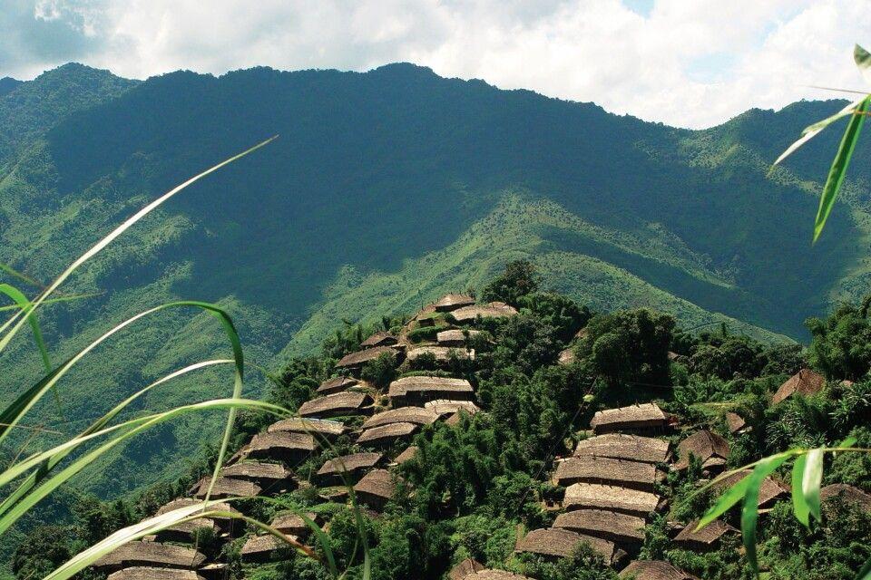 Dorf in Nordost Indien