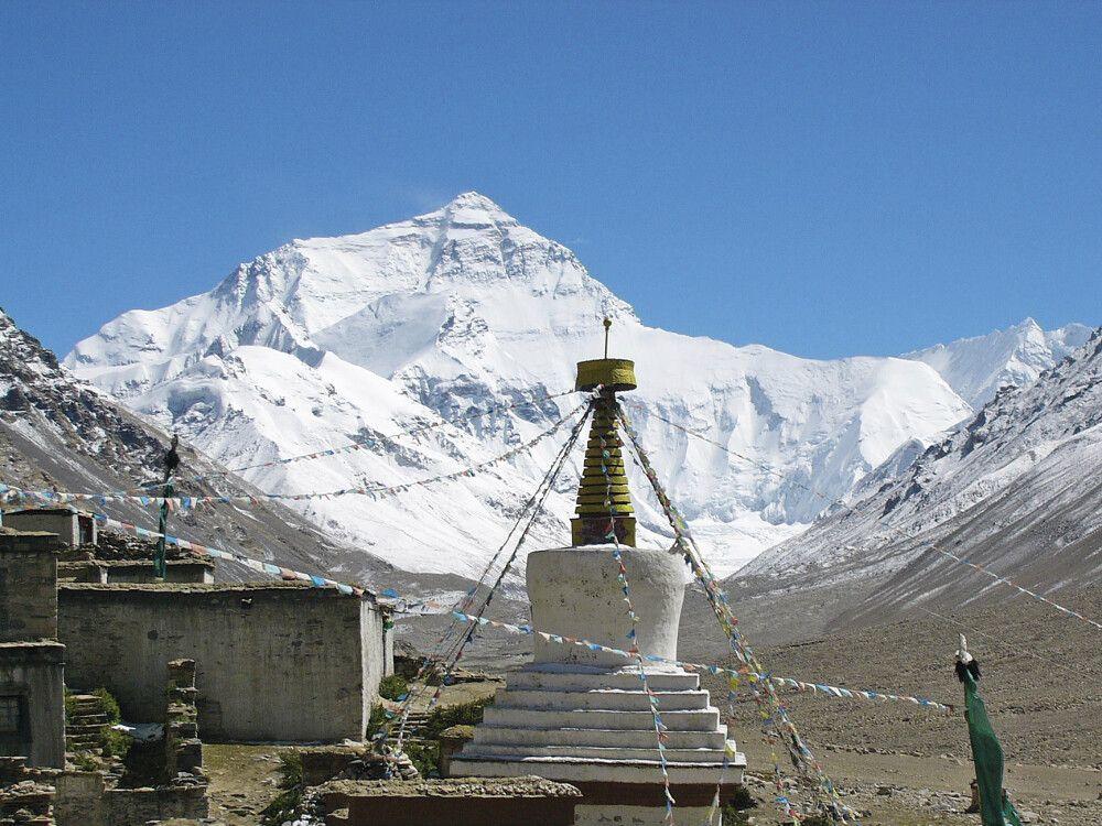 Blick aus Tibet auf Mount Everest
