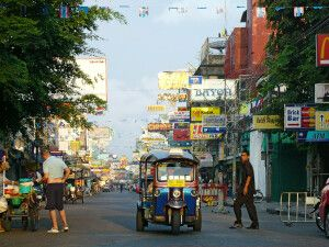 in der Khao Sarn Road